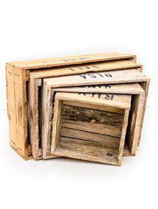 Decowood, Kist set van 5, L: 56cm, H: 17cm, B: 36cm