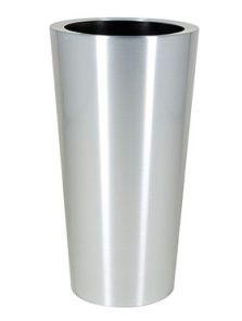 Alure Conica Topper, Aluminium geborsteld gelakt, diam: 39cm, H: 78cm