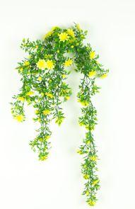 Margrietje Geel Hang, vol kunststof, L: 65cm