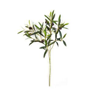 Natural Olive spray met olijven- Vlamvertragend behandeld, H: 50 cm