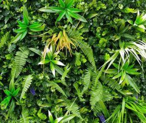 Vegetatie extra grof blad Jungle bloem, 100 x 100 cm