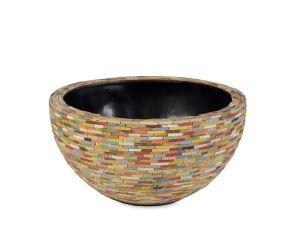 Caribbean bowl, diam: 43cm, H: 22cm