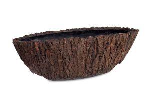 Bosco Ovaal Klein Schors L: 75cm, H: 26,5cm, B: 26,5cm