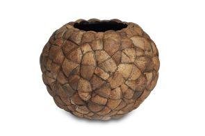 Bosco Rond Bol Groot Kokosnoot, diam: 92cm, H: 74cm,