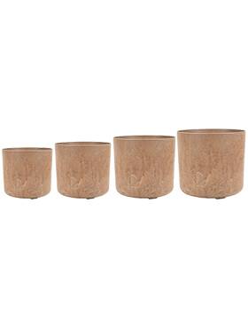 artstone celine pot oak set van 4 diam 20cm h 18cm