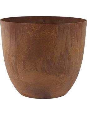 artstone bola pot oak diam 38cm h 33cm