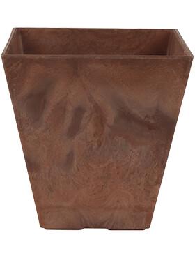 artstone ella pot oak l 15cm h 15cm b 15cm