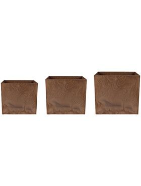artstone maud pot oak set van 3 l 37cm h 33cm b 37cm