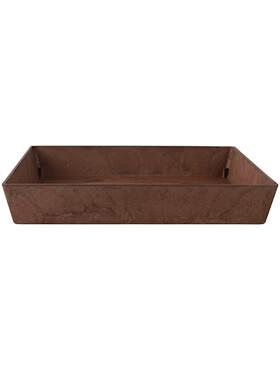 artstone saucer ella square oak l 26cm h 4cm b 26cm