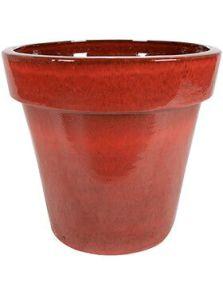 Ashley, Pot Deep Red, diam: 60cm, H: 53cm