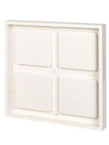 BioMontage, 61 cm x 61 cm Frame in Solid Shine White, L: 61cm, H: 7cm, B: 61cm