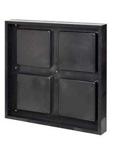 BioMontage, 61 cm x 61 cm Frame in Solid Shine Black, L: 61cm, H: 7cm, B: 61cm