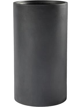 basic cylinder dark grey met inzetbak diam 30cm h 55cm