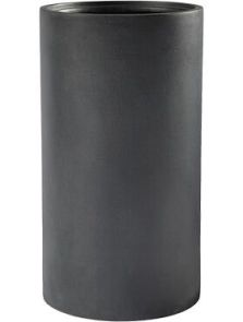 Basic, Cylinder Dark Grey (met inzetbak), diam: 40cm, H: 68cm