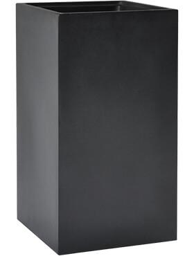 basic square dark grey met inzetbak l 38cm h 68cm b 38cm