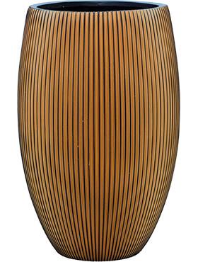 capi nature groove vaas elegant deluxe zwart goud diam 39cm h 60cm