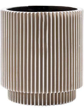 capi nature vaas cylinder groove i ivoor diam 8cm h 85cm