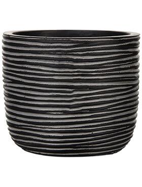 capi nature pot bol rib iii zwart diam 18cm h 16cm