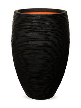 capi nature rib nl vaas elegant deluxe zwart diam 45cm h 72cm