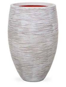 Capi Nature Rib NL, Vaas elegant deluxe ivoor, diam: 39cm, H: 60cm
