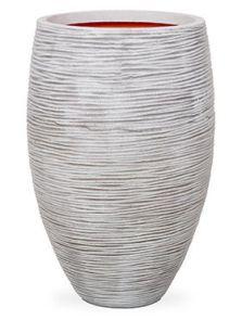 Capi Nature Rib NL, Vaas elegant deluxe ivoor, diam: 45cm, H: 72cm