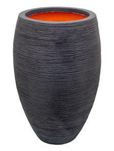 Capi Nature Rib NL, Vaas elegant deluxe zwart, diam: 56cm, H: 86cm
