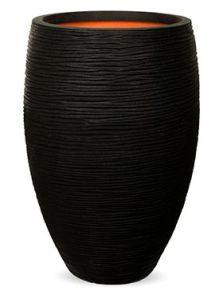 Capi Nature Rib NL, Vaas elegant deluxe zwart, diam: 39cm, H: 60cm