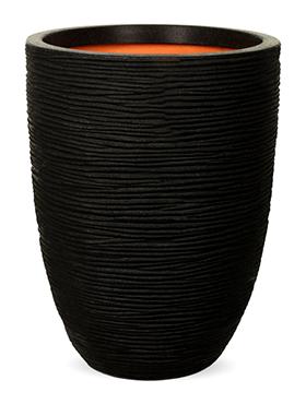 capi nature rib nl vaas elegant laag zwart diam 35cm h 47cm
