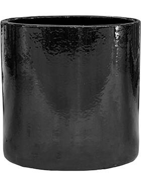 cylinder pot black diam 30cm h 30cm
