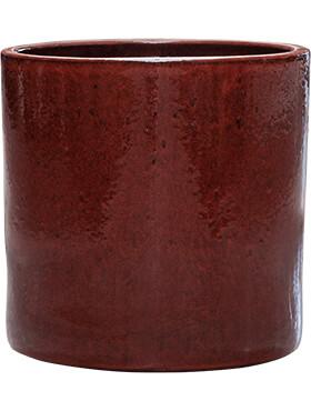 cylinder pot deep red diam 30cm h 30cm