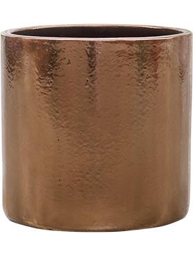 cylinder pot gold diam 40cm h 40cm