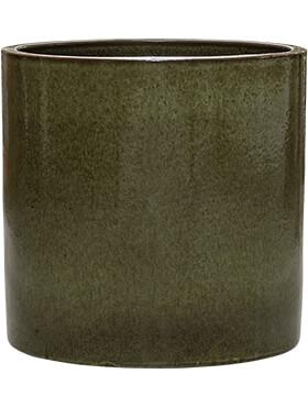 cylinder pot green diam 40cm h 40cm