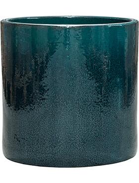 cylinder pot ocean blue diam 40cm h 40cm