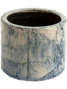 D&M Indoor, Pot Fracture Petrol (per 2 st.), diam: 17cm, H: 16cm