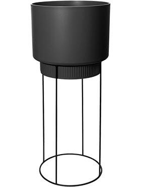 b for studio round living black diam 295cm h 689cm