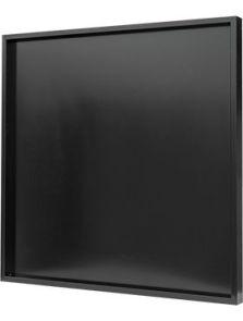 Hout frame, MDF RAL 9005 zijdeglans, L: 100cm, H: 6cm, B: 100cm