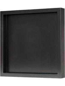 Hout frame, MDF RAL 9005 zijdeglans, L: 40cm, H: 6cm, B: 40cm