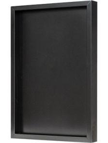 Hout frame, MDF RAL 9005 zijdeglans, L: 40cm, H: 6cm, B: 60cm