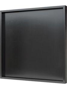 Hout frame, MDF RAL 9005 zijdeglans, L: 80cm, H: 6cm, B: 80cm