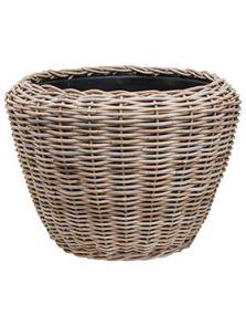 Drypot Rattan, Round grey outdoor, diam: 80cm, H: 62cm