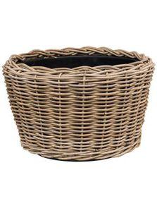 Drypot Rattan, Round grey, diam: 54cm, H: 34cm