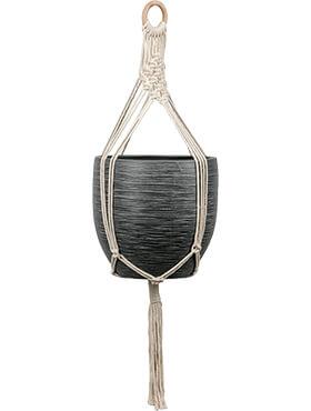bagdad rope for hanger white pot diam 10 21 cm l 85cm