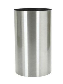 Parel, Pedestal RVS geborsteld op noppen van vilt (1.2mm), diam: 30cm, H: 60cm
