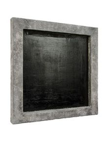 Polystone frame, Raw grey finish, L: 50cm, H: 5cm, B: 50cm