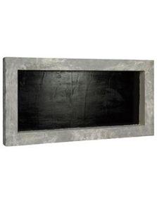 Polystone Frame, Raw Grey Finish, L: 100cm, H: 5cm, B: 50cm
