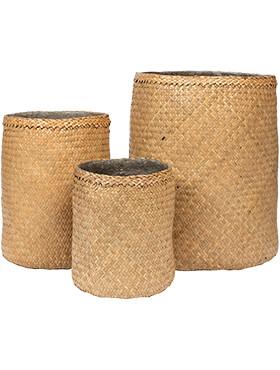 bohemian kenyi seagrass set van 3 diam 42cm h 52cm