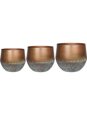 elisa pot mystic bronze set van 3 diam 44cm h 39cm