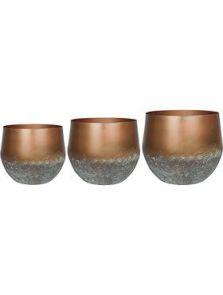 Elisa, Pot Mystic Bronze (set van 3), diam: 44cm, H: 39cm