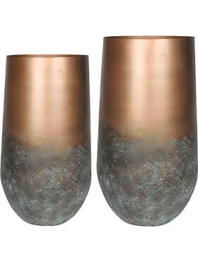 elisa vase mystic bronze set van 2 diam 41cm h 68cm