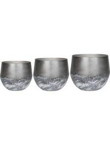 Elisa, Pot Mystic Earth (set van 3), diam: 44cm, H: 39cm